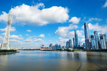 river and skyscrapers in guangzhou