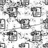 PDF document pattern, grunge, monochrome