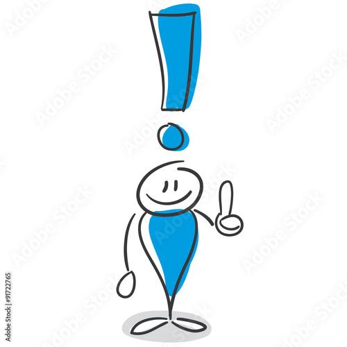Stick Figure Series Blue