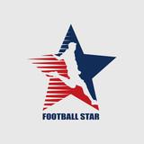 Football star emblem