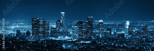 Los Angeles at night - 91736536
