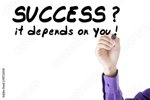 Poster Person write success depends on you