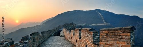 Deurstickers Peking Great Wall sunset panorama