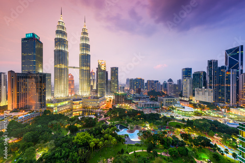 Poster Kuala Lumpur Skyline