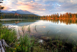 Slovakia nice lake - Strbske pleso in High Tatras at summer