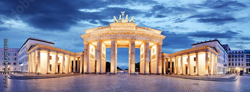 Foto op Aluminium Berlijn Brandenburg Gate, Berlin, Germany - panorama