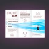 Refreshing speed blue swoosh wave brochure
