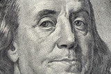 Benjamin Franklin's face on the US 100 dollar bill - 91766113