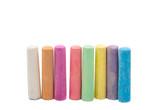 Fototapety colored chalks