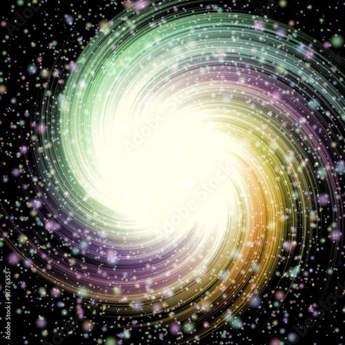 Fototapeta stars swirl pattern texture background - abstract space illustration