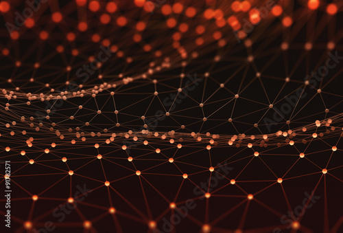 Foto op Plexiglas Abstract wave Abstract Background Science Technology