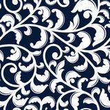 Elegant seamless pattern with white foliage