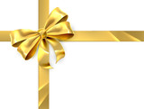 Fototapety Gold Bow Gift