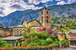 Постер, плакат: Sant Esteve church in Andorra la Vella Andorra