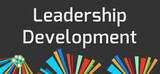 Leadership Development Dark Colorful Elements