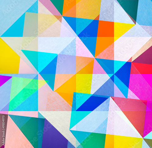 Plakat abstract graphic design - colored textured paper background