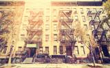 Old film retro style photo of New York street, USA. - 91836593