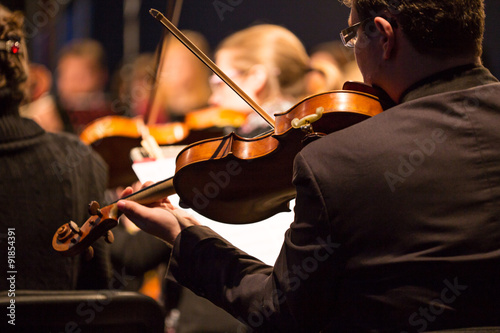 Poster Symphony orchestra performing.