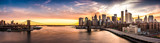 Brooklyn Bridge panorama at sunset - 91885783