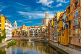Fototapety Colorful houses in Girona, Catalonia, Spain