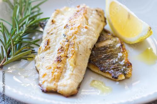 Fototapeta Grilled Fish Fillet