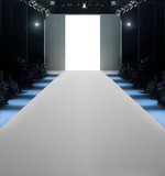 Runway before a fashion show