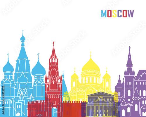 Fototapeta Moscow skyline pop