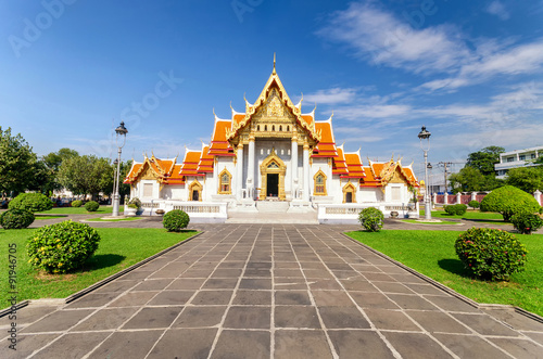 Staande foto India Wat Benchamabophit or Marble temple in Bangkok, Thailand