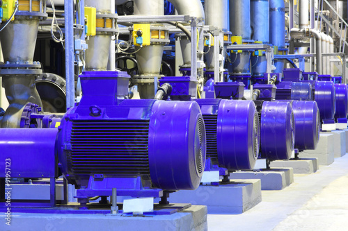 Factory equipment.Industrial business. Electric motor.