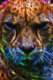Cheetah Neon Portrait