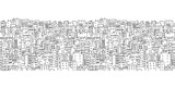 Fototapety Abstract cityscape background, seamless pattern for your design