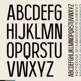 Sans serif font in newspaper style - 91975790