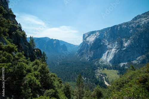 Plakat Yosemite Valley at Yosemite National Park landscape view summer vacation