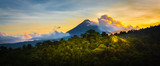 Arenal Volcano at Sunrise...A rare sight at the perfect 15 second window to capture sunrise in all of it