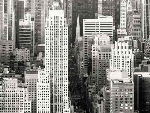 Fototapeta Black and white view of New York City