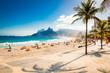 Quadro Palms and Two Brothers Mountain on Ipanema beach, Rio de Janeiro