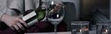 Half-empty bottle of wine
