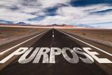 Fototapety Purpose written on desert road