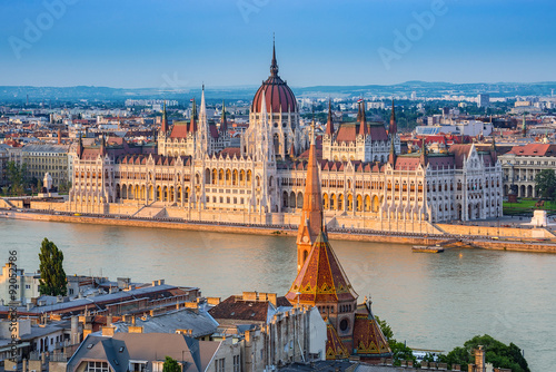 Poster Hungarian Parliament - Budapest - Hungary