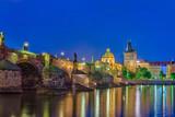 Prague city skyline and Charles Bridge - Prague - Czech Republic