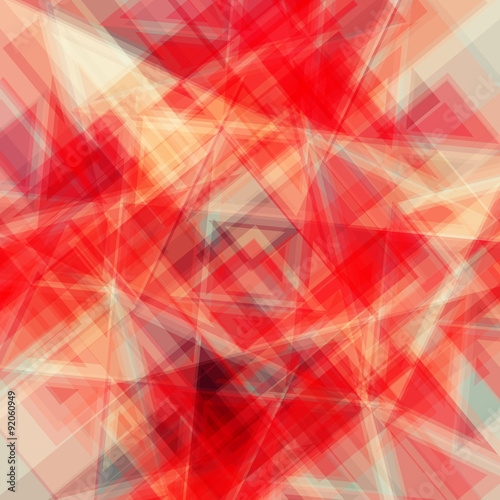 Obraz Vector abstract background. Consists of geometric elements. The elements have a triangular shape. In color.