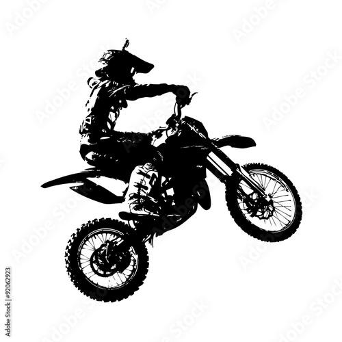 Naklejka Rider participates motocross championship. Vector illustration.