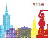 Warsaw skyline pop - 92073167