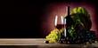 Vine of grape with wine