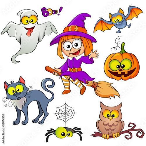 fototapeta na ścianę Set of Halloween elements
