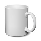 Gray mug realistic 3D mockup on a white background vector illustration