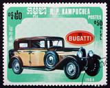 Postage stamp Cambodia 1985 Bugatti, Classic Car