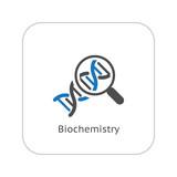 Biochemistry Icon. Flat Design. poster