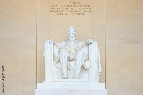 Lincoln Memorial statue, Washington, DC Poster