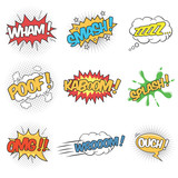 Fototapety Set of Wording Sound Effects for Comic Speech Bubble